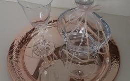 Καραφα,  ποτήρι, δίσκος