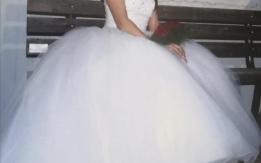 Λευκό ball gawn νυφικό