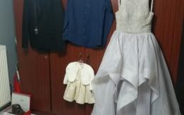 Καινούριο φόρεμα γκρί και για νυφικό