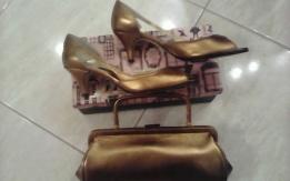Χειροποιητα παπουτσια  και τσαντα ασορτι thomas shoes